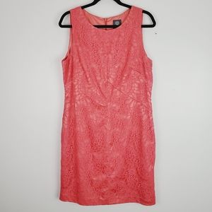 Vince Camuto Coral Sleeveless Lace Dress